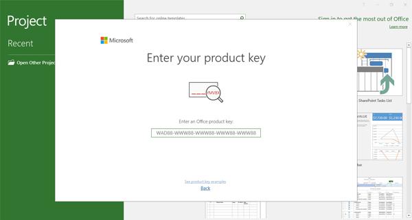 Masukan License Key Project
