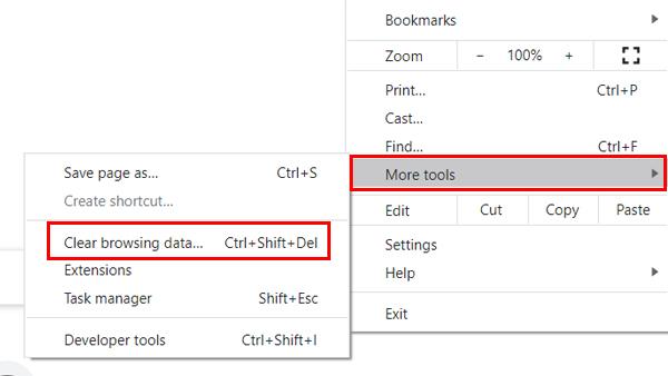 Masuk Menu Clear Browsing Data